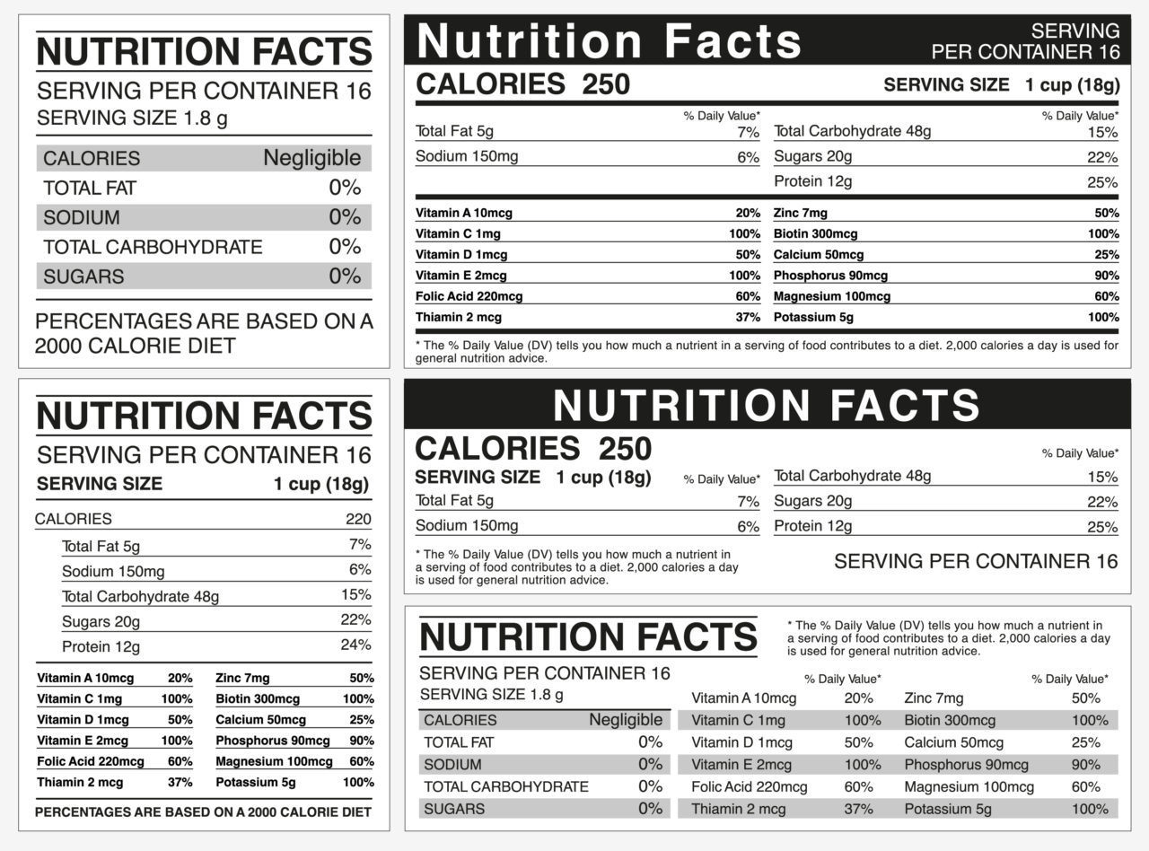 basic nutrition terms and definitions